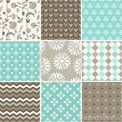 Free Seamless Vector Patterns Set Royalty Free Stock Photo - 40801655