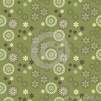 Seamless vector spring pattern