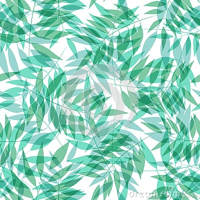 Seamless vector tropical pattern with palm grove Vector Illustration