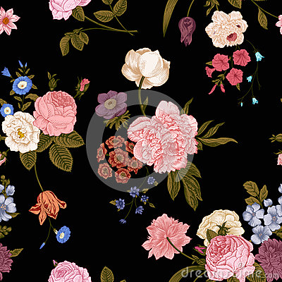 Free Seamless Vector Vintage Pattern Royalty Free Stock Photos - 46128328