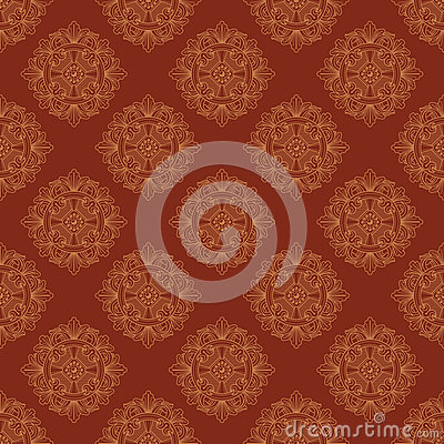 Free Seamless Vector Vintage Terracotta Pattern Stock Image - 38577471