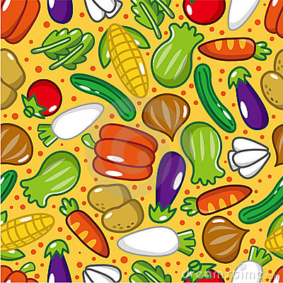 Seamless vegetable pattern