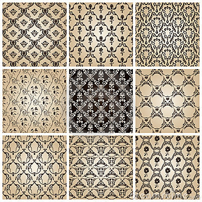 Seamless vintage backgrounds baroque wallpaper