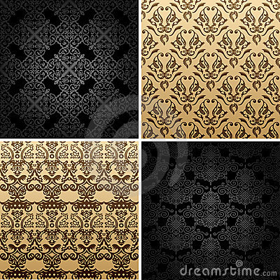 Seamless vintage backgrounds ornament decor
