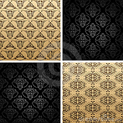Seamless vintage backgrounds ornament wallpaper