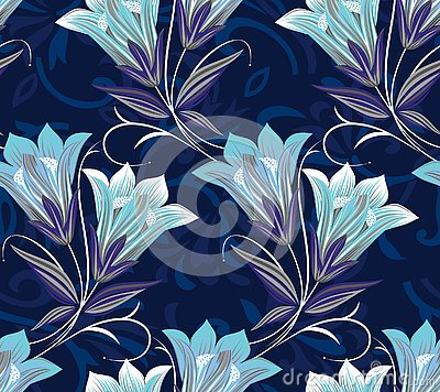 Free Seamless Vintage Floral Pattern Royalty Free Stock Images - 133537999