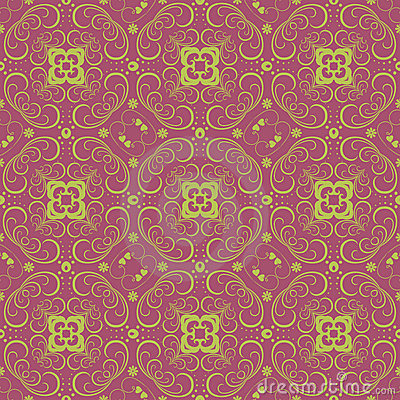 Seamless vintage floral pattern background