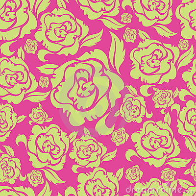 Seamless vintage floral pattern with roses