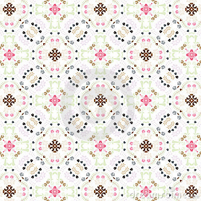 Seamless vintage floral wallpaper