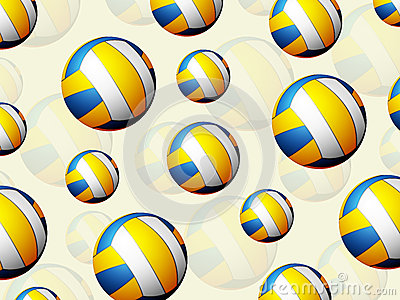 Volleyball Balls Background Stock Images - Image: 30251464