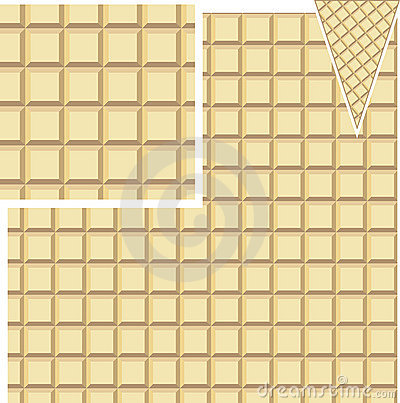 Seamless waffle pattern