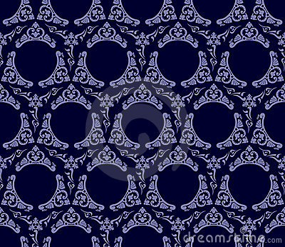 Seamless wallpaper background vintage blue black