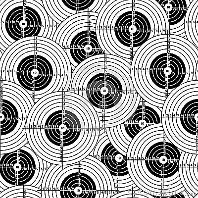 Seamless wallpaper black target