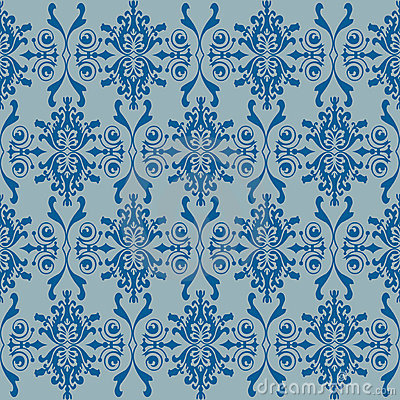 Seamless wallpaper of classic floral pattern
