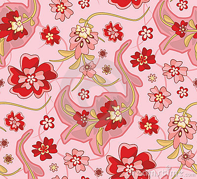Free Seamless Wallpaper Pattern Royalty Free Stock Photography - 1585767