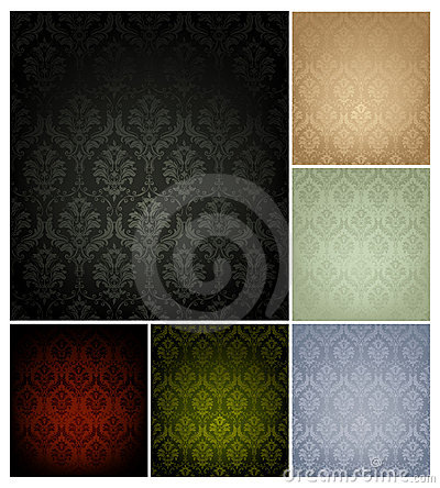Free Seamless Wallpaper Pattern, Set Of Six Colors Royalty Free Stock Photography - 20359477