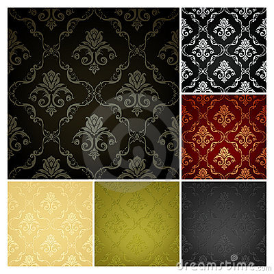 Free Seamless Wallpaper Pattern, Set Of Six Colors Royalty Free Stock Photos - 20359548