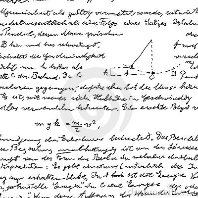 Seamless wallpaper with science handwriting