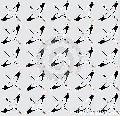 Seamless wallpaper stork.