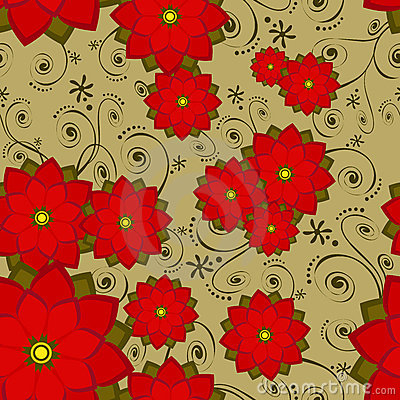 Free Seamless Wallpaper Tile Flower Stock Photos - 3408443