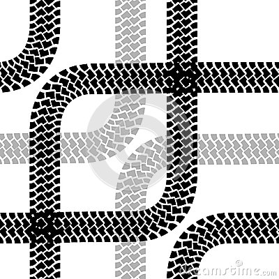 Seamless wallpaper tire tracks pattern