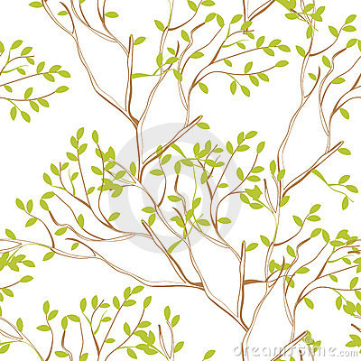 Seamless wallpaper with tree branches