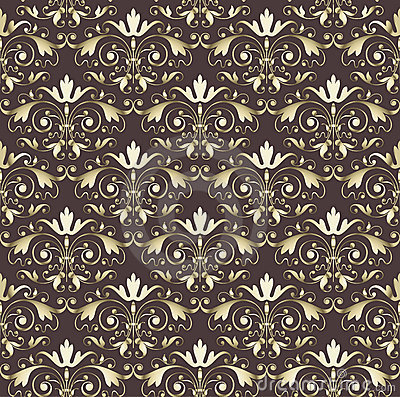 Seamless wallpaper vintage gold