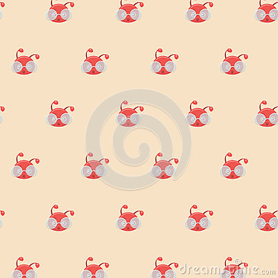 Free Seamless Wallpaper With Red Ants. Stock Photos - 97104573