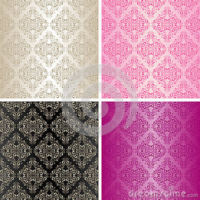 Free Seamless Wallpapers - Set Of Four Colors. Stock Photos - 28842863