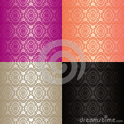 Free Seamless Wallpapers - Set Of Four Colors. Royalty Free Stock Photography - 28842867