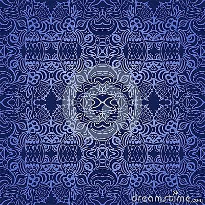 Seamless wallpapper dark blue