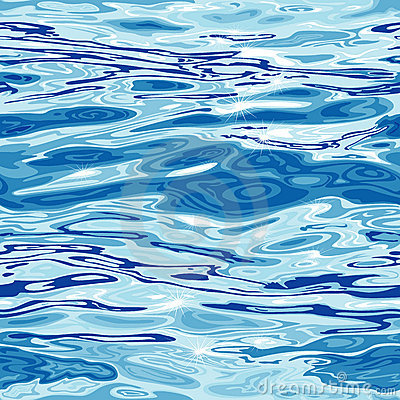 Free Seamless Water Surface Pattern Royalty Free Stock Image - 13383936