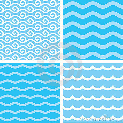 Free Seamless Wave Patterns Royalty Free Stock Photo - 13623665