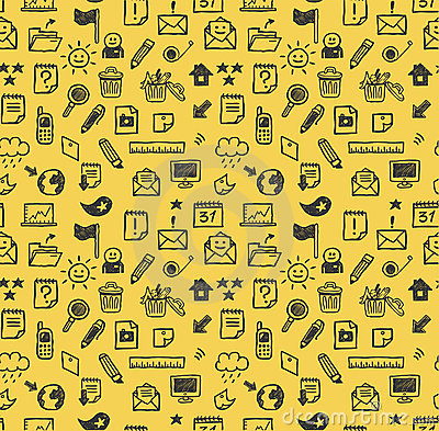Free Seamless Web Icons Pattern Royalty Free Stock Images - 14980559