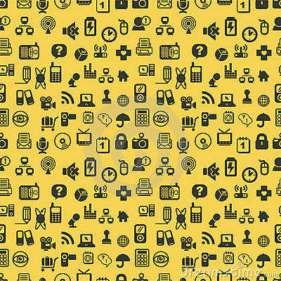 Seamless web icons pattern