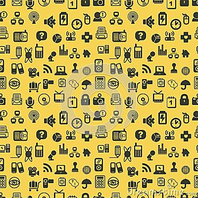 Seamless web icons pattern