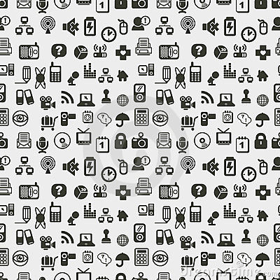 Free Seamless Web Icons Pattern. Vector Illustration. Stock Photos - 23625853