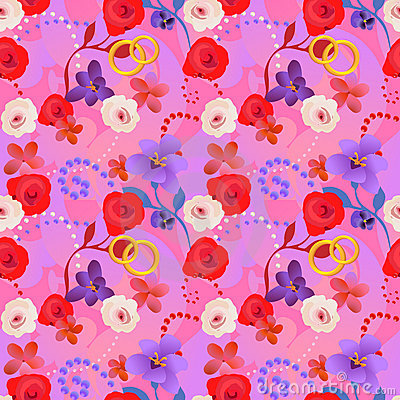 Seamless wedding pattern