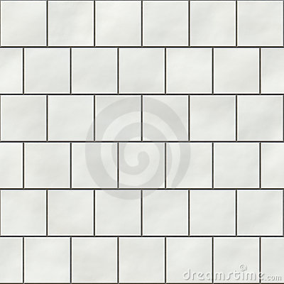 Seamless white square tiles