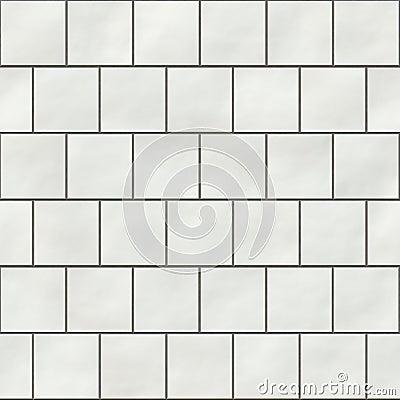 Seamless white square tiles