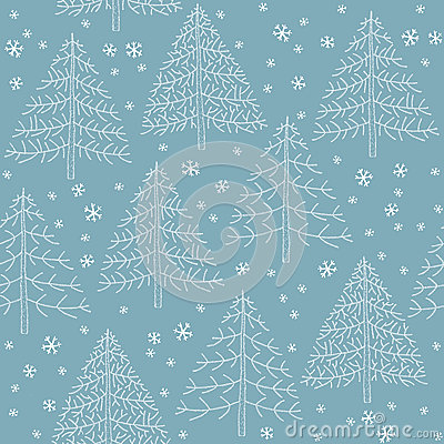 Seamless Winter Forest Pattern