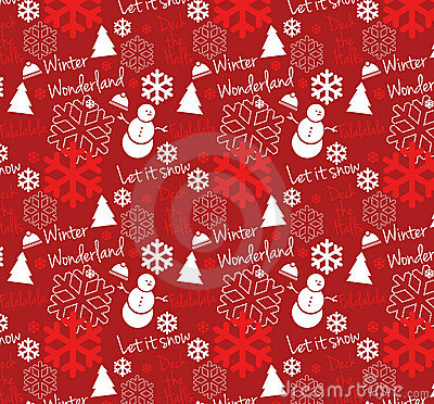 Seamless Winter Wonderland Pattern