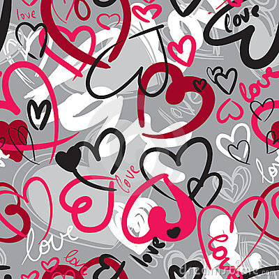 Free Seamless With Hearts Stock Image - 23061271