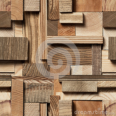 Free Seamless Wood Block Background Royalty Free Stock Images - 94108179