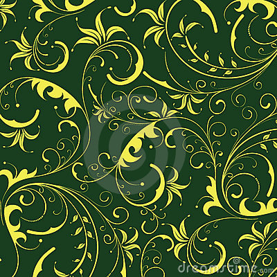 Seamless yellow flower pattern
