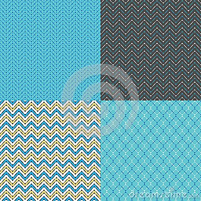 Seamless Zigzag Abstract Patterns