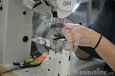 Seamstress hands