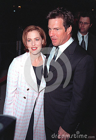 Dennis Quaid,Gillian Anderson Editorial Photo