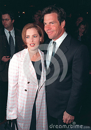 Sean Connery,Gillian Anderson,Dennis Quaid Editorial Stock Photo