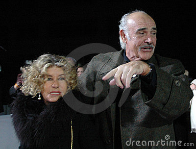 Sean Connery with his wife Editorial Stock Image